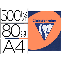 CLAIREFONTAINE TROPHÉE FLUORESCENT ORANGE A4 80G