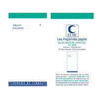 BLOC MAITRE D'HÔTEL TRIPLIS 50 FEUILLES 85X105MM