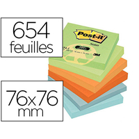 RECYCLÉS ASSORTIS 76X76MM PACK DE 12