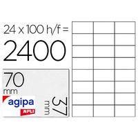 AGIPA ÉTIQUETTES COINS DROITS 70X37MM
