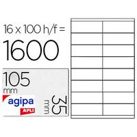 AGIPA ÉTIQUETTES COINS DROITS 105X35MM