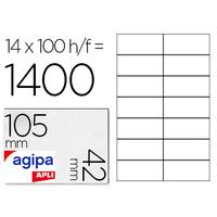 AGIPA ÉTIQUETTES COINS DROITS 105X42MM