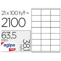 AGIPA ÉTIQUETTES COINS ARRONDIS 63.5X38.1MM