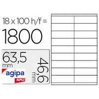 AGIPA ÉTIQUETTES COINS ARRONDIS 63.5X46.6MM