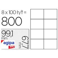 AGIPA ÉTIQUETTES COINS ARRONDIS 99.1X67.7MM