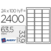 AVERY ÉTIQUETTES 63.5X33.9MM