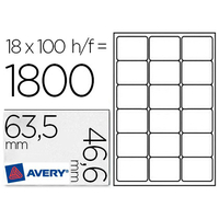 AVERY ÉTIQUETTES 63.5X46.6MM