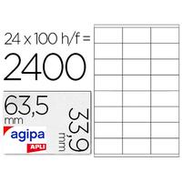 AGIPA ÉTIQUETTES BLANCHES 63.5X33.9MM
