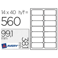 AVERY ÉTIQUETTES BLANCHES 99.1X38.1MM