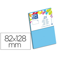 CARTES 82X128MM BLEU LAGON