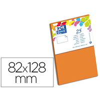 CARTES 82X128MM ORANGE