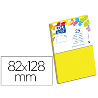 CARTES 82X128MM JAUNE CANARI