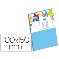 CARTES 100X150MM BLEU LAGON