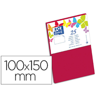 CARTES 100X150MM ROUGE