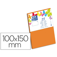 CARTES 100X150MM ORANGE