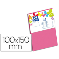 CARTES 100X150MM ROSE