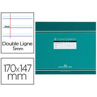 CAHIER D'ÉCRITURE 17X14.7CM A L'ITALIENNE DOUBLE LIGNÉ 5MM