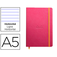 WEBNOTEBOOK A5 192 PAGES LIGNÉES FRAMBOISE
