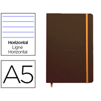 WEBNOTEBOOK A5 192 PAGES LIGNÉES TAUPE
