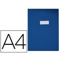 GRAIN D'AGNEAU PVC 21x29.7CM BLEU