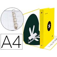 ANTARTIK A4 4 ANNEAUX 40MM JAUNE FLUO