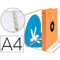 ANTARTIK A4 4 ANNEAUX 40MM ORANGE FLUO