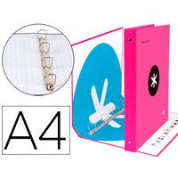 ANTARTIK A4 4 ANNEAUX 40MM ROSE FLUO