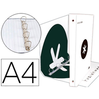 ANTARTIK A4 4 ANNEAUX 40MM BLANC