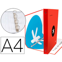 ANTARTIK A4 4 ANNEAUX 40MM ROUGE