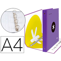 ANTARTIK A4 4 ANNEAUX 40MM VIOLET