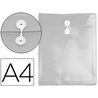 POCHETTE A CORDON A4 INCOLORE TRANSPARENT