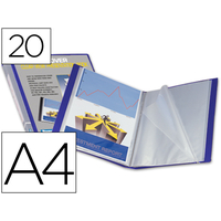 KANGOUROU PERSONNALISABLE A4 40 VUES BLEU