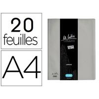 LUTIN CLASSIQUE A4 40 VUES GRIS MÉTAL