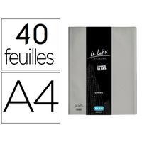 LUTIN CLASSIQUE A4 80 VUES GRIS MÉTAL