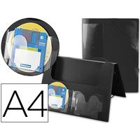 AVEC 2 POCHES CD DOS RIGIDE 2.5CM NOIR