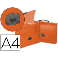 PORTE-DOCUMENTS A4 TRANSLUCIDES ORANGE