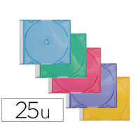 BOITIER SLIM ASSORTIS POUR CD/DVD PACK DE 25