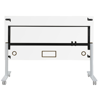 YES BLANC TABLE MOBILE ET RABATTABLE PIEDS BLANC 120CM