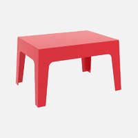 BOXI TABLE BASSE ROUGE