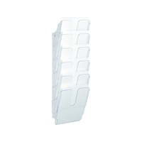 CORBEILLE MURALE FLEXIPLUS 6 CASES TRANSPARENT