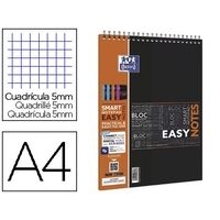 BLOC EASY NOTES A4 RÉGLURE 5x5