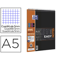 BLOC EASY NOTES A5 RÉGLURE 5x5