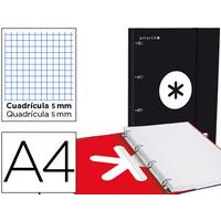 CLASSEUR ANTARTIK + FEUILLETS 5X5 NOIR