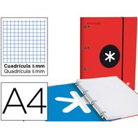 CLASSEUR ANTARTIK + FEUILLETS 5X5 ROUGE