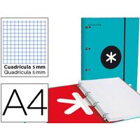 CLASSEUR ANTARTIK + FEUILLETS 5X5 TURQUOISE