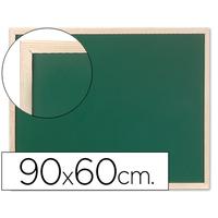 TABLEAU VERT CADRE BOIS 90X60CM
