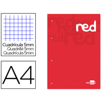 BLOC-NOTES COURS 200 PAGES ROUGE