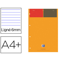 BLOC-NOTES NOTEPADS ORANGE RÉGLURE LIGNÉ