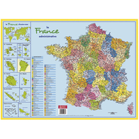 SOUS-MAINS CARTONNÉ CARTE DE FRANCE