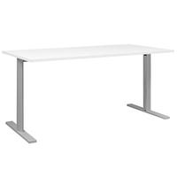 YES/XERUS BLANC TABLE DE RÉUNION PIEDS GRIS 120CM